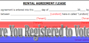 Are You Registered to Vote with Rental Agreement