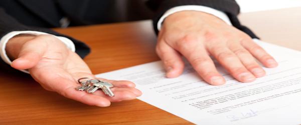 Management-Landlord handing over keys.